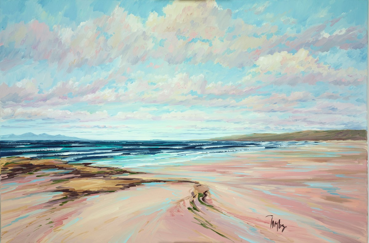 Summer Shore Machrihanish III by tom barron -  sized 36x24 inches. Available from Whitewall Galleries